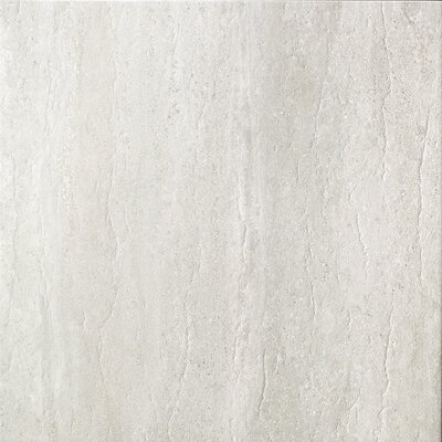 Travertini 16.75 x 16.75 Porcelain Field Tile in Polished Grey