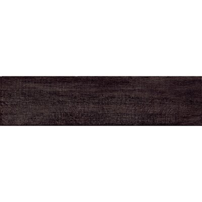 Barrique 6 x 24 Porcelain Wood Tile in Black