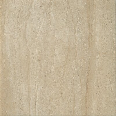 Travertini 16.75 x 16.75 Porcelain Field Tile in Matte Cream