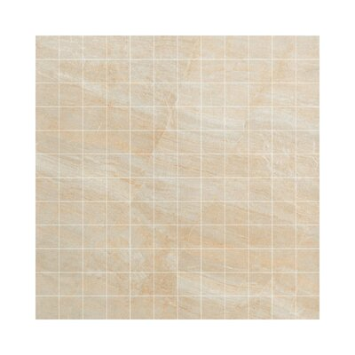 Anthology Porcelain Mosaic Tile in Glazed Beige