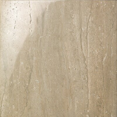 Travertini 16.75 x 16.75 Porcelain Field Tile in Polished Walnut