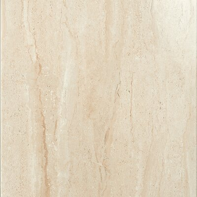 Travertini 16.75 x 16.75 Porcelain Field Tile in Polished Beige