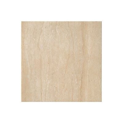 Travertini 16.75 x 16.75 Porcelain Field Tile in Polished Cream