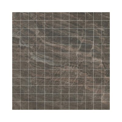 Anthology Porcelain Mosaic Tile in Glazed Brown