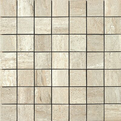 Travertini Porcelain Mosaic Tile in Beige