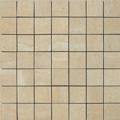 Travertini Porcelain Mosaic Tile in Matte Cream