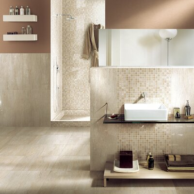Travertini 12 x 24 Porcelain Field Tile in Matte Beige