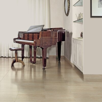 Travertini 12 x 24 Porcelain Wood Look/Field Tile in Matte Cream