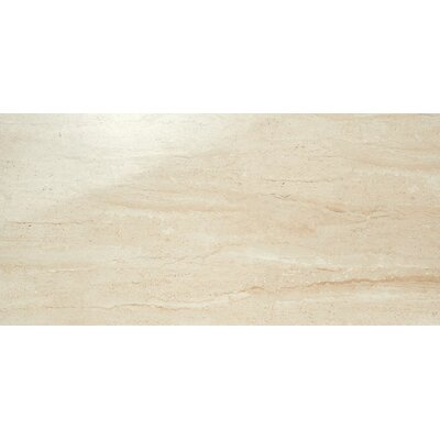 Travertini 12 x 24 Porcelain Field Tile in Polished Beige