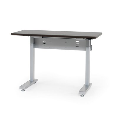 """Anthro Ergonomic Elevate II Advanced Electric Lift Computer Table - Size: 48"""" W x 29"""" D, Laminate Color: Wenge"""
