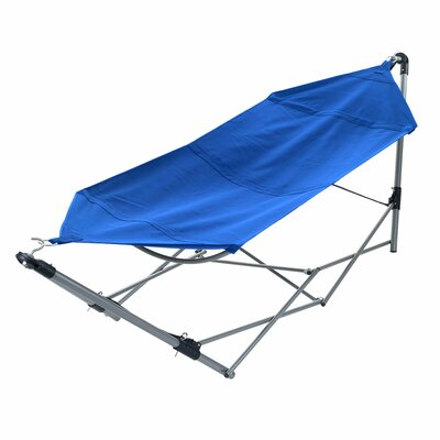 Portable Camping Hammock with Stand Color: Blue