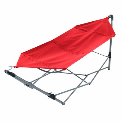 Portable Camping Hammock with Stand Color: Red