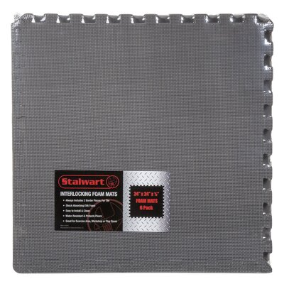 Gray EVA Foam Floor Mats Set of 6