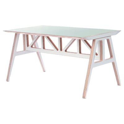 Truss Dining Table Table Finish: Moss Grey