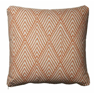 Tangerine Cotton Throw Pillow Size: 21 H  x 21 W
