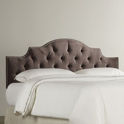 Vienna Upholstered Panel Headboard Size: Queen, Upholstery: Chocolate