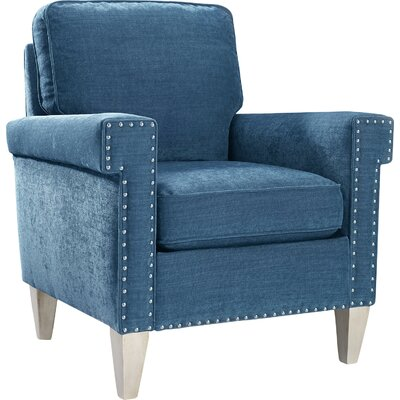Fitch Arm Chair Upholstrey: Peacock