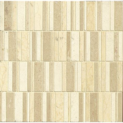 Random Sized Limestone Mosaic Tile in Honed Blend/Brown