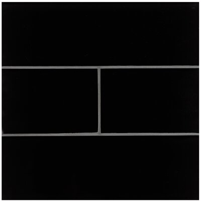Harbor Glass 6 x 6 Glass Field Tile in Black Sand