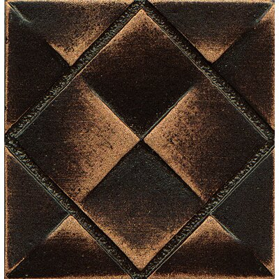 Ambiance Insert Matrix City 2 x 2 Resin Tile in Venetian Bronze