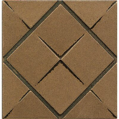 Ambiance Insert Matrix City 4 x 4 Resin Tile in Bronze
