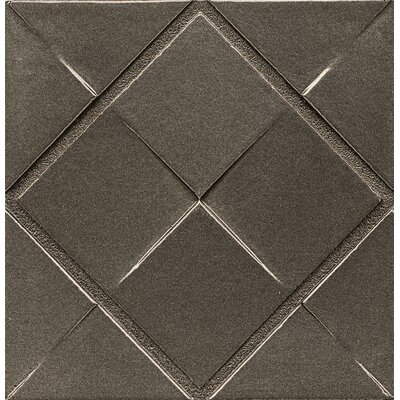 Ambiance Insert Matrix City 4 x 4 Resin Tile in Brushed Nickel