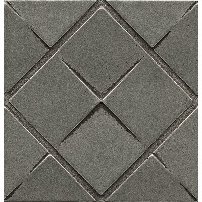 Ambiance Insert Matrix City 4 x 4 Resin Tile in Pewter