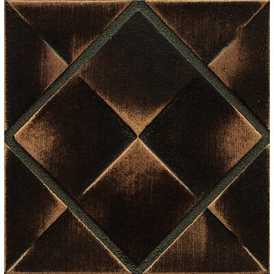 Ambiance Insert Matrix City 4 x 4 Resin Tile in Venetian Bronze