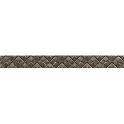 Ambiance Matrix City Liner 1-1/4 x 12 Resin Tile in Brushed Nickel