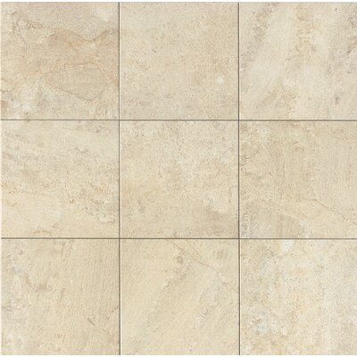 Classic Moderne 12 x 12 Porcelain Field Tile in Cr�me