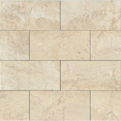 Classic Moderne 6 x 12 Porcelain Mosaic Tile in Cr�me