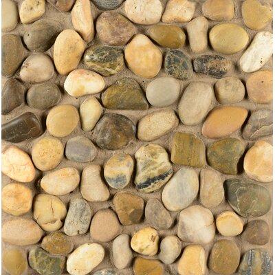 Hemisphere Stone Pebble Tile in Kona Sands