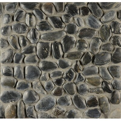 Hemisphere Stone Pebble Tile in Panther Black