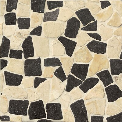 Hemisphere Random Sized Stone Pebble Tile in Glazed Island Blend