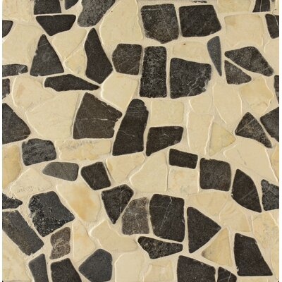 Hemisphere Random Sized Stone Pebble Tile in Baltra Blend