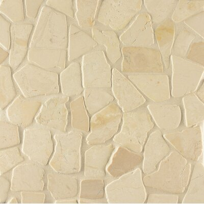 Hemisphere Random Sized Stone Pebble Tile in Bali White