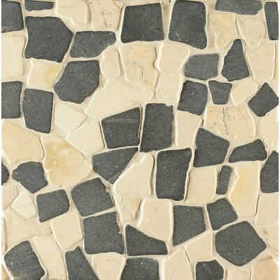 Hemisphere Random Sized Stone Pebble Tile in Unpolished Island Blend