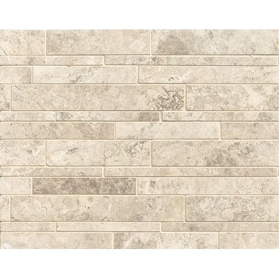 Random Linear Marble Polished Mosaic Tile in Sebastian Grey