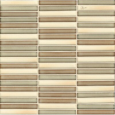 Shizen 0.5 x 4 Porcelain Mosaic Tile in Canyon Blend