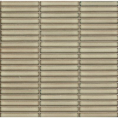 Shizen 0.5 x 4 Porcelain Mosaic Tile in Moss