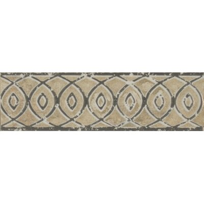 Forge Listello Baroque 1.9 x 6.5 Porcelain Mosaic Tile in Beige