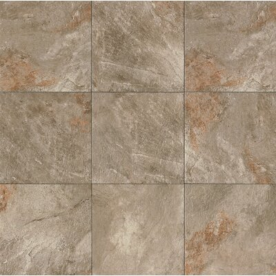 Rok 13 x 13 Porcelain Field Tile in Antracite