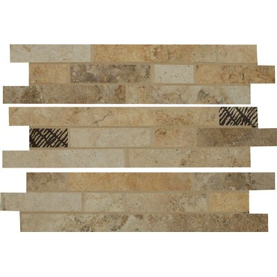Forge Listellos 3 x 13 Porcelain Mosaic Tile in Mix Color
