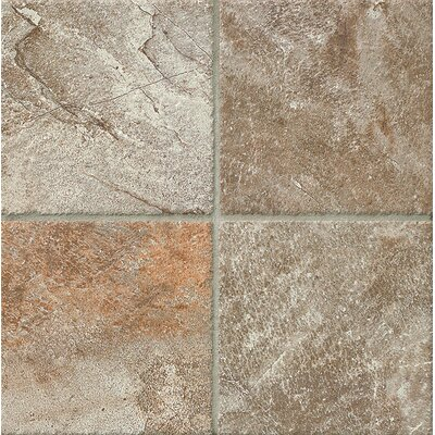 Rok 6.5 x 6.5 Porcelain Field  Tile in Antracite