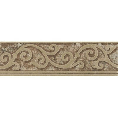 Forge Listello Baroque 1.9 x 6.5 Porcelain Mosaic Tile in Walnut