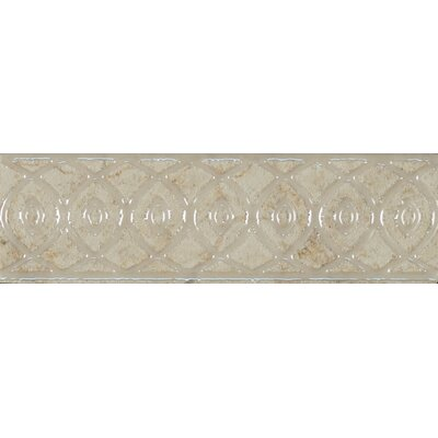 Forge Listello Baroque 1.9 x 6.5 Porcelain Mosaic Tile in White