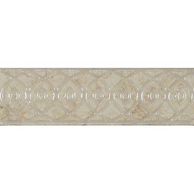 Forge Listello Baroque 1.9 x 6.5 Porcelain Mosaic Tile in White