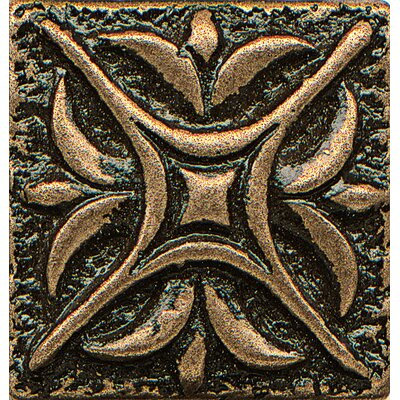Ambiance Insert Rising Star 1 x 1 Resin Tile in Bronze