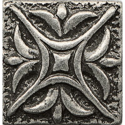 Ambiance Insert Rising Star 1 x 1 Resin Tile in Pewter
