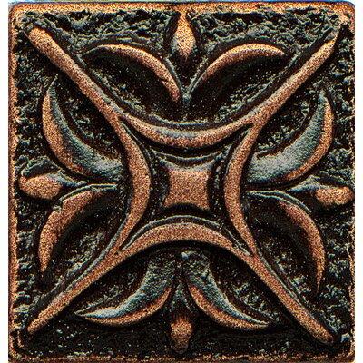 Ambiance Insert Rising Star 1 x 1 Resin Tile in Venetian Bronze